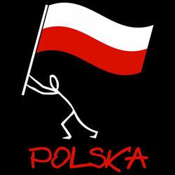 t-shirt 2K060 Polska Ludzik Czarny
