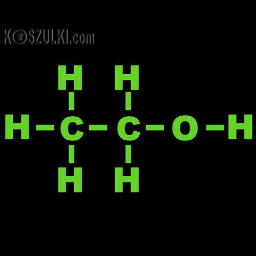 t-shirt ALKOHOL-molekuły