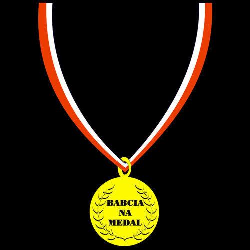 t-shirt Babcia na Medal