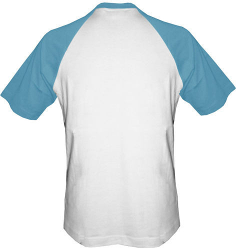 t-shirt Baseball dowolny tekst- biało-niebieski