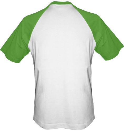 t-shirt Baseball dowolny tekst- biało-zielony