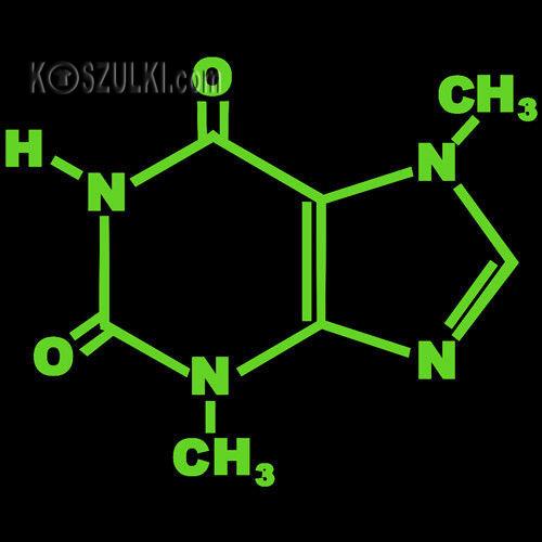 t-shirt CZEKOLADA-molekuły
