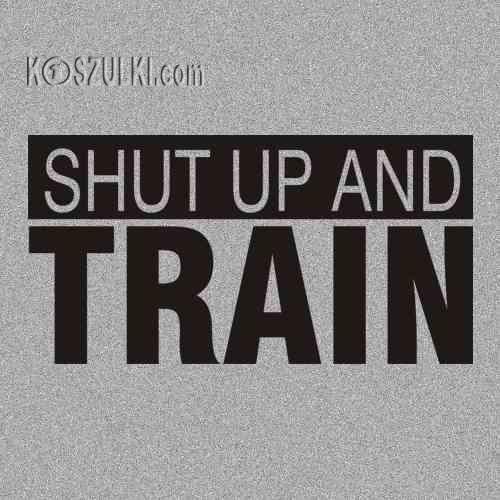 t-shirt Shut up and train
