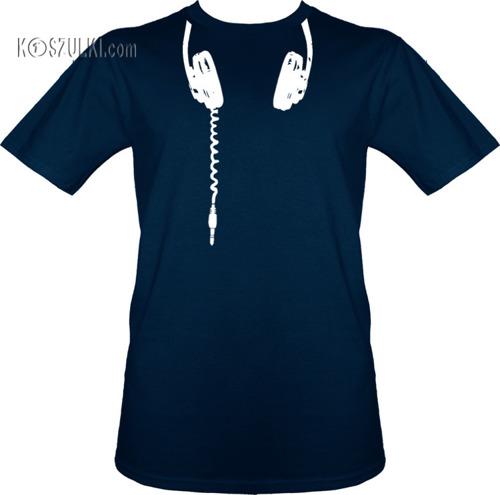 t-shirt Słuchawki