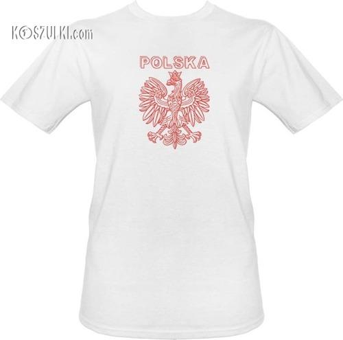 t-shirt T013- Polska Orzeł Biały