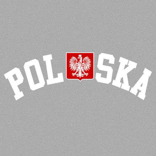 t-shirt T044 Polska godło Szary