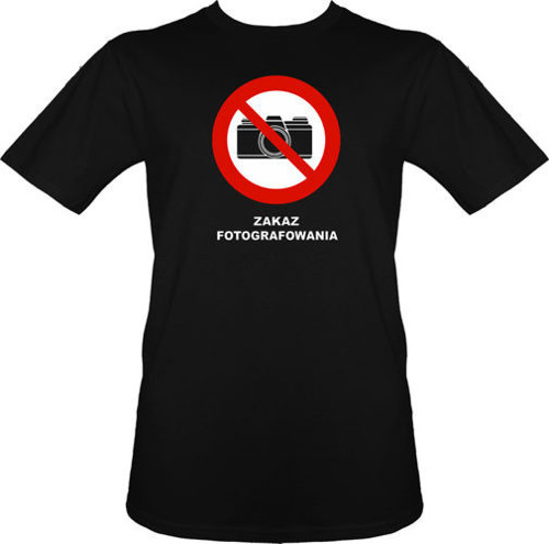 t-shirt Zakaz Fotografowania