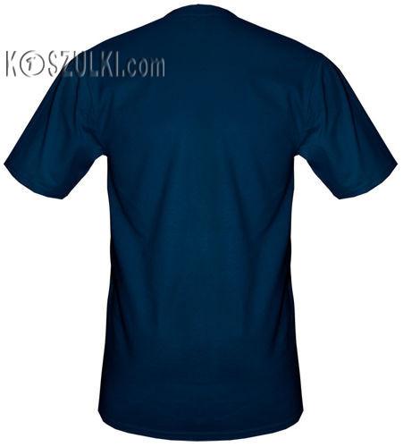 t-shirt bez nadruku Granatowy