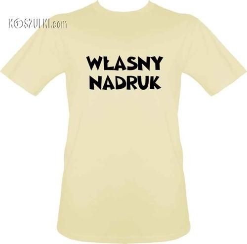 t-shirt z własnym nadrukiem- Beżowy
